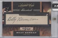 Billy Herman [CutSignature] #/49