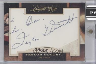 2011 Donruss Limited Cuts Cut Signatures - [Base] #306 - Taylor Douthit /25