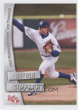 2011 Grandstand Midwest League Top Prospects - [Base] #N/A - Hayden Simpson