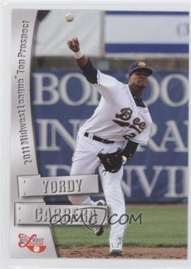 2011 Grandstand Midwest League Top Prospects - [Base] #N/A - Yordy Cabrera