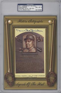 2011 Historic Autographs Legends of the Hall Cut Autographs - [Base] #N/A - Duke Snider /100 [PSA/DNA Certified Auto]
