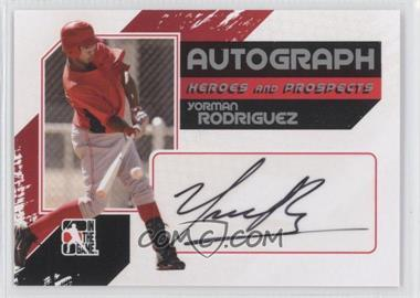 2011 In the Game Heroes and Prospects - Full Body Autograph - Silver #A-YR - Yorman Rodriguez /390