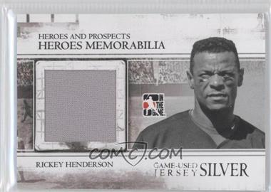 2011 In the Game Heroes and Prospects - Heroes Memorabilia Jersey - Silver #HM-26 - Rickey Henderson /160