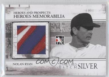 2011 In the Game Heroes and Prospects - Heroes Memorabilia Patch - Silver #HM-10 - Nolan Ryan /5
