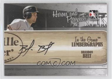 2011 In the Game Heroes and Prospects - Lumbergraphs - [Autographed] #L-BB - Brandon Belt /100