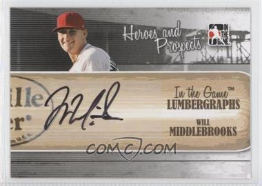 2011 In the Game Heroes and Prospects - Lumbergraphs - [Autographed] #L-WMI - Will Middlebrooks /100