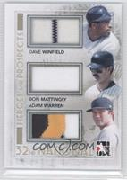 Dave Winfield, Don Mattingly, Adam Warren