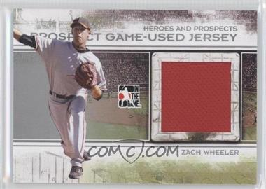 2011 In the Game Heroes and Prospects - Prospect Game-Used Jersey - Silver #PJ-17 - Zack Wheeler