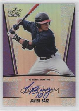 2011 Leaf Metal Draft - [Base] - Purple Prismatic #AU-JB2 - Javier Baez /25