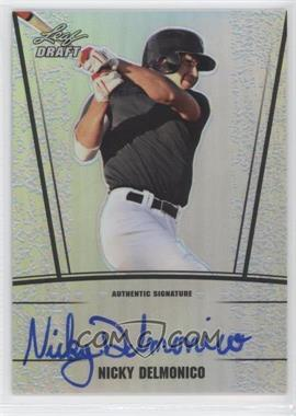 2011 Leaf Metal Draft - [Base] - Silver Prismatic #AU-ND1 - Nicholas Delmonico /99
