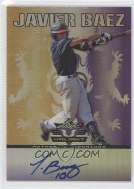 2011 Leaf Valiant - [Base] - Purple #VA-JB2 - Javier Baez /25