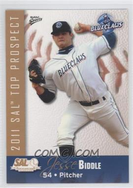 2011 MultiAd Sports South Atlantic League Top Prospects - [Base] #2 - Jesse Biddle