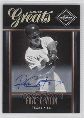2011 Panini Limited - Limited Greats - Signatures [Autographed] #39 - Royce Clayton /499