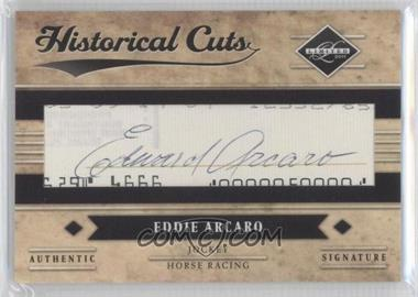 2011 Panini Limited - Limited Historical Cuts #20 - Eddie Arcaro, TBD /5