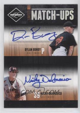 2011 Panini Limited - Limited Match-Ups - Signatures [Autographed] #6 - Dylan Bundy, Nicky Delmonico /99