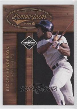 2011 Panini Limited - Lumberjacks #8 - Rickey Henderson /249