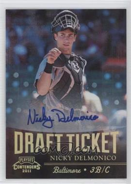 2011 Playoff Contenders - Draft Tickets - Signatures [Autographed] #DT8 - Nicky Delmonico