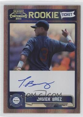 2011 Playoff Contenders - Rookie Tickets Signatures #RT13 - Javier Baez