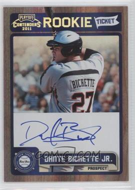 2011 Playoff Contenders - Rookie Tickets Signatures #RT39 - Dante Bichette Jr.
