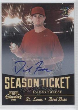 2011 Playoff Contenders - Season Tickets - Signatures [Autographed] #29 - David Freese /50