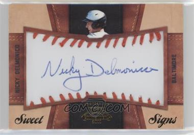 2011 Playoff Contenders - Sweet Signs #10 - Nicky Delmonico /99
