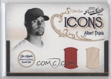 2011 Playoff Prime Cuts - Icons - Combos Materials [Memorabilia] #24 - Albert Pujols /25