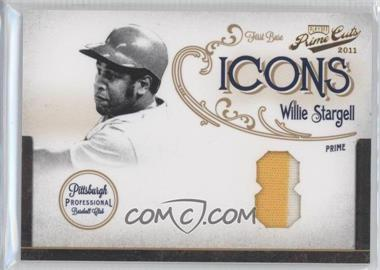 2011 Playoff Prime Cuts - Icons - Jersey Number Materials Prime [Memorabilia] #13 - Willie Stargell /25