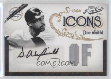 2011 Playoff Prime Cuts - Icons - Position Materials Signatures [Autographed] [Memorabilia] #9 - Dave Winfield /10