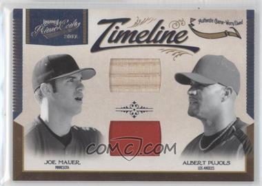2011 Playoff Prime Cuts - Timeline Combos Materials #18 - Joe Mauer, Albert Pujols /99