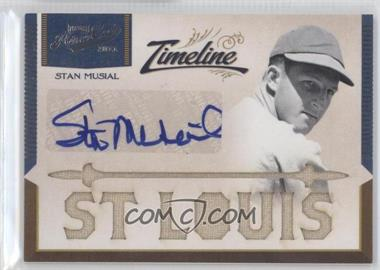 2011 Playoff Prime Cuts - Timeline Materials - Custom Die-Cut City Name Signatures [Autographed] #6 - Stan Musial /5
