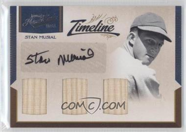 2011 Playoff Prime Cuts - Timeline Materials - Trios Signatures [Autographed] #6 - Stan Musial /5