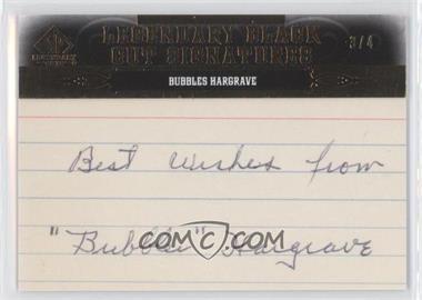2011 SP Legendary Cuts - Black Cut Signatures - [Autographed] #CIN-HB - Bubbles Hargrave /4