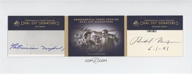 2011 SP Legendary Cuts - Presidential First Couples Dual Cut Signatures - [Autographed] #NN - Richard Nixon, Pat Nixon /1