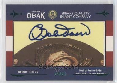 2011 TRISTAR Obak - Cut Autographs - Green #BODO - Bobby Doerr /25