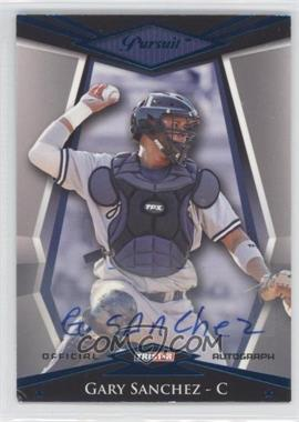 2011 TRISTAR Pursuit - [Base] - Blue Autographs [Autographed] #10 - Gary Sanchez /50