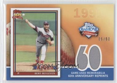 2011 Topps - 60th Anniversary Reprints - Relics #60ARR-BB - Bert Blyleven /60