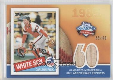 2011 Topps - 60th Anniversary Reprints - Relics #60ARR-CF - Carlton Fisk /60