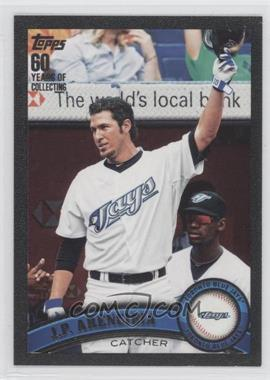 2011 Topps - [Base] - Black #587 - J.P. Arencibia /60