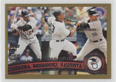 2011 Topps - [Base] - Gold #306 - Alex Rodriguez, Miguel Cabrera, Jose Bautista /2011