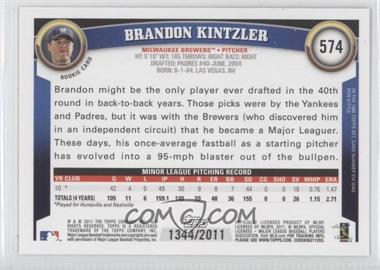 2011 Topps - [Base] - Gold #574 - Brandon Kintzler /2011 - Courtesy of COMC.com
