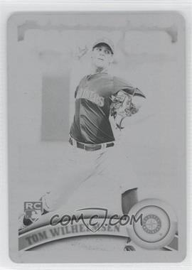 2011 Topps - [Base] - Printing Plate Black #333 - Tom Wilhelmsen /1