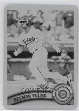 2011 Topps - [Base] - Printing Plate Black #485 - Delmon Young /1