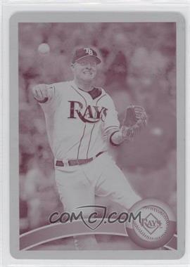 2011 Topps - [Base] - Printing Plate Magenta #585 - Dan Johnson /1