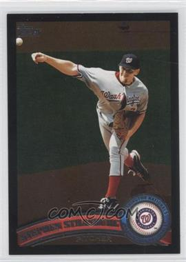 2011 Topps - [Base] - Wal-Mart All-Black #10 - Stephen Strasburg