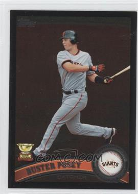 2011 Topps - [Base] - Wal-Mart All-Black #198 - Buster Posey
