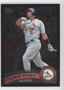 2011 Topps - [Base] - Wal-Mart All-Black #547 - Albert Pujols