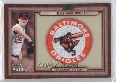 2011 Topps - Blaster Box Throwback Manufactured Patch #TLMP-BMA - Brian Matusz