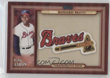 2011 Topps - Blaster Box Throwback Manufactured Patch #TLMP-HA - Hank Aaron