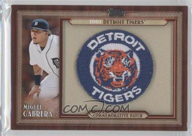 2011 Topps - Blaster Box Throwback Manufactured Patch #TLMP-MC - Miguel Cabrera