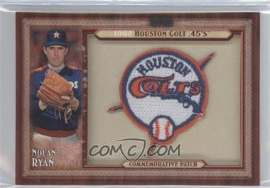 2011 Topps - Blaster Box Throwback Manufactured Patch #TLMP-NR.2 - Nolan Ryan (Houston Colts)